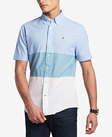 Tommy Hilfiger Men's Tripp Pieced Colorblocked Shirt, Created for Macy's