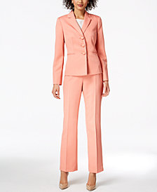 Le Suit Damask Stripe Pantsuit