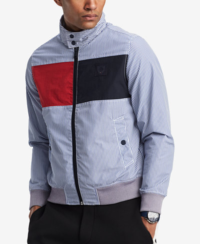 Tommy Hilfiger Men's Gleason Barracuda Colorblocked Stripe Jacket, Created for Macy's