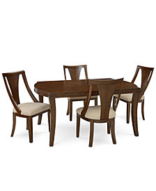 Portland Expandable Dining Furniture, 5-Pc. Set (Dining Table & 4 Side Chairs), Created for Macy's