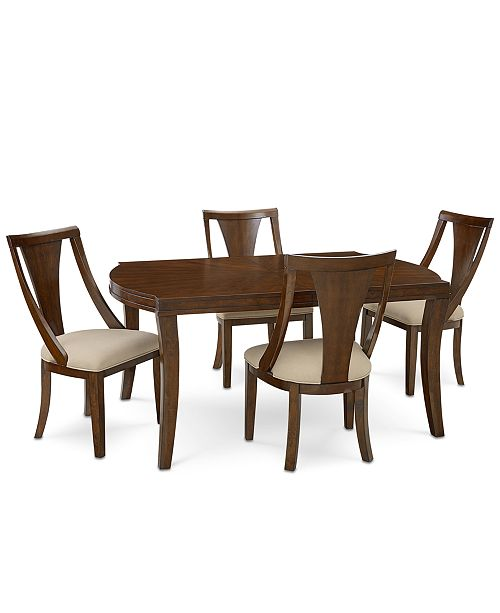 Furniture Portland Expandable Dining 5 Pc Set Table 4