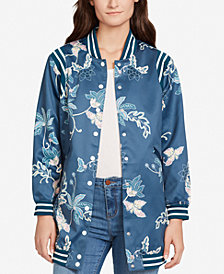 WILLIAM RAST Long Printed Bomber Jacket