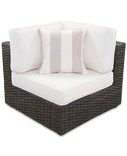 Furniture Viewport Outdoor Corner Unit with Sunbrella® Cushion, Created for Macy's