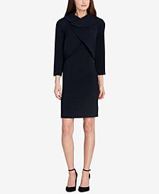 Tahari ASL Wrap Jacket Dress Suit, Regular & Petite