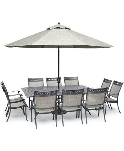 Vintage II Outdoor Aluminum 11-Pc. Dining Set (84