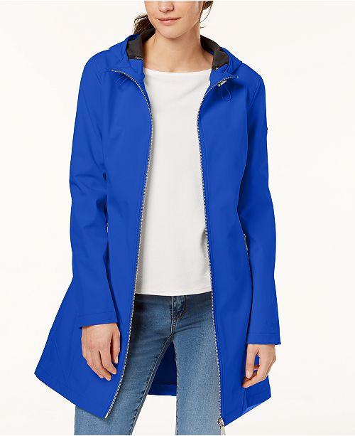 eebe77cafa Calvin Klein Hooded Softshell Raincoat   Reviews - Coats - Women ...