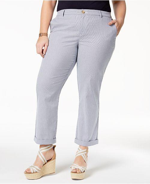25f1776f734 Tommy Hilfiger Plus Size Pinstripe Ankle Pants