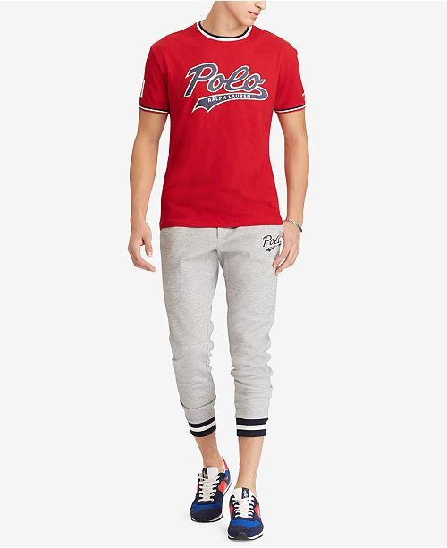 173a207db Polo Ralph Lauren Men's Classic Fit Graphic T-Shirt, Created for Macy's ...