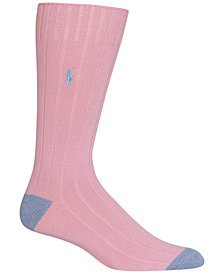 Polo Ralph Lauren Men's Ribbed Embroidered Socks
