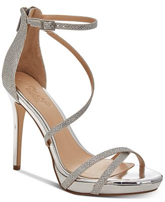 Badgley Mischka Galen Platform Evening Sandals Women's Shoes