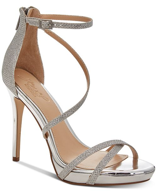 b4472074f0fe Jewel Badgley Mischka Galen Platform Evening Sandals   Reviews ...