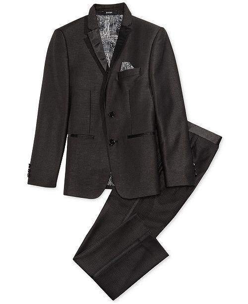 DKNY Dot Tuxedo Jacket & Pants Separates, Big Boys