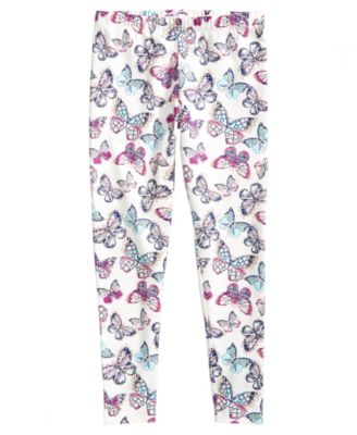 Butterfly-Print Leggings, Big Girls, Created for Macy's