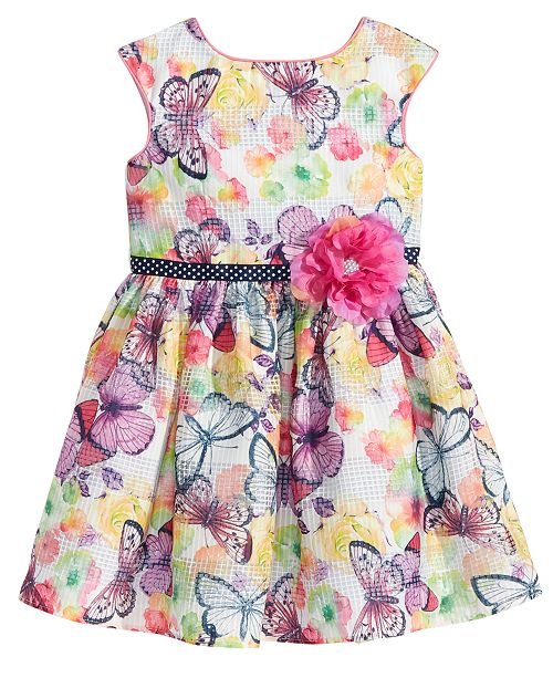 69c6b62c5da3 Marmellata Butterfly-Print Dress, Toddler Girls & Reviews - Dresses ...