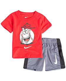 Nike 2-Pc. Baseball Graphic-Print T-Shirt & Shorts Set, Little Boys
