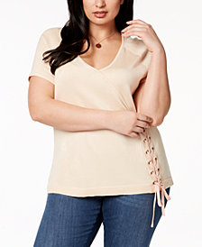 Love Scarlett Plus Size Lace-Up Top