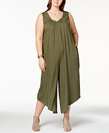 Love Scarlett Plus Size Peekaboo Sleeveless Jumpsuit