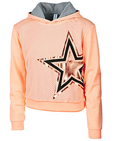 Ideology Foil-Print Mesh Hoodie, Big Girls, Created for Macy's
