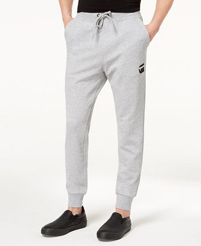 G-Star RAW Men's Doax 3D Tapered Logo-Print Sweatpants