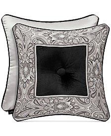 """J Queen New York Chancellor 18"""" Embroidered Square Decorative Pillow"""