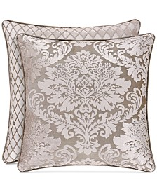 "J Queen New York Bel Air Sand 18"" Square Decorative Pillow"