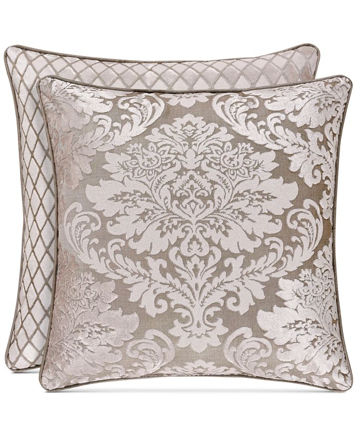"""J Queen New York - Bel Air Sand 18"""" Square Decorative Pillow"""