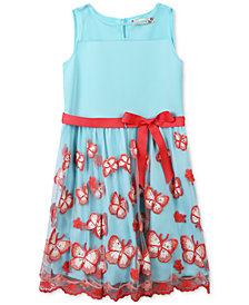 Speechless Embroidered Butterfly Dress, Little Girls