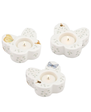 Lenox Candle Holders, Set of 3 Butterfly Meadow Votive