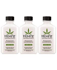 Hempz Pomegranate Herbal Body Moisturizer Trio (Three Items), 2-oz., from PUREBEAUTY Salon & Spa