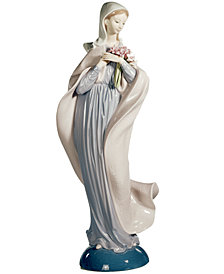 Lladro Collectible Figurine, Lady With Flowers