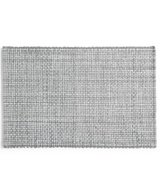 Gray Woven Cotton Placemat, Created for Macy's