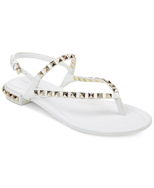 773f2e3baffc Marc Fisher Pamali Studded Flat Sandals   Reviews - Sandals   Flip ...
