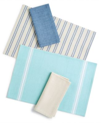 2-Pc. Navy Cotton Napkin Set, Created for Macy's