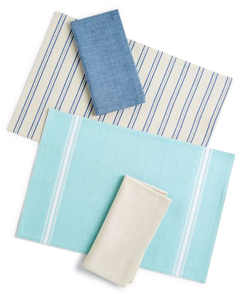 Martha Stewart Collection Placemat & Napkin Collection, Created for Macy's