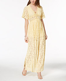 Disney Princess Juniors' Lace Maxi Dress