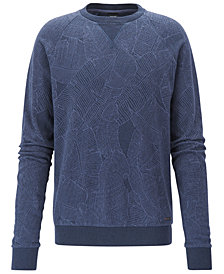 BOSS Men's Leaf-Print Cotton Sweatshirt