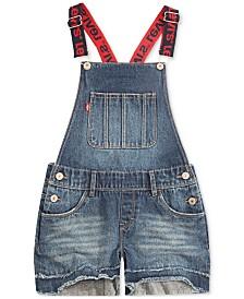Levi's® Cotton Denim Boyfriend Shortall, Big Girls