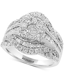 EFFY® Diamond Cluster Ring (2 ct. t.w.)