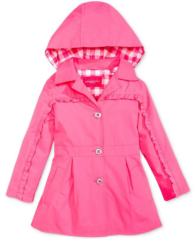 London Fog Ruffle Trench Coat, Toddler Girls