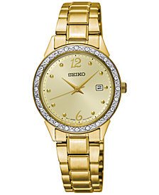 LIMITED EDITION Seiko Women's Special Value Gold-Tone Stainless Steel Bracelet Watch 28mm
