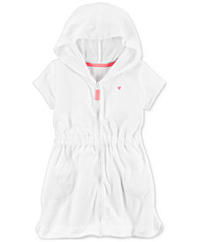 Carter's Front-Zip Hooded Bathing Suit Cover-Up, Toddler Girls