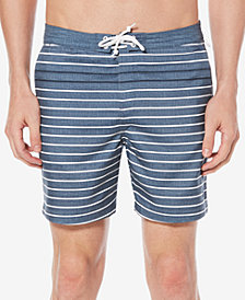 "Original Penguin Men's Volley-Fit Feeder-Stripe 6"" Swim Trunks"