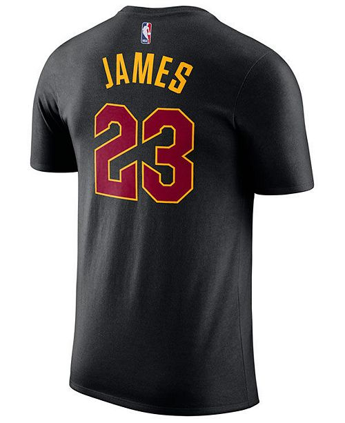 ... Nike LeBron James Cleveland Cavaliers Statement Name and Number  T-Shirt 06ca20dadfdb