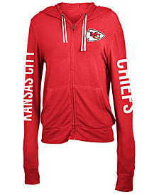5th & Ocean Women's Kansas City Chiefs Full-Zip Hooded Sweatshirt