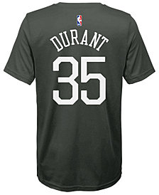 Nike Kevin Durant Golden State Warriors Statement Name and Number T-Shirt, Big Boys (8-20)