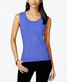 Charter Club Sleeveless Scoopneck Sweater, Created for Macy's