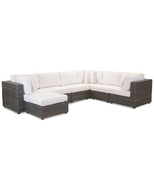 Furniture Viewport Outdoor 7 Pc Modular Seating Set 3 Corner Units