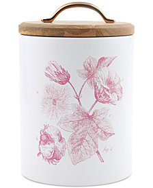 CLOSEOUT! Thirstystone Large Floral Canister with Wood Top