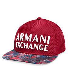 Armani Exchange Men's Logo Printed Flat-Bill Hat