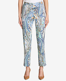 Tommy Hilfiger Paisley-Print Ankle Pants